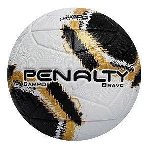 Bola de Futebol Campo Penalty Bravo 21 Branco com Dourado