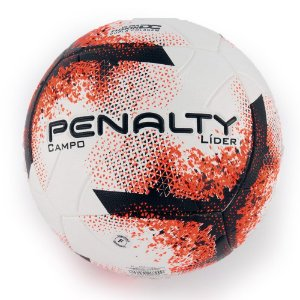 Bola de Futebol Campo Penalty Líder 21 Branco com Laranja