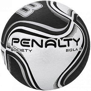 Bola de Futebol Society Penalty Bola 8 X Preto com Branco
