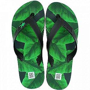 Chinelo Kenner Summer Bananeira Verde Masculino