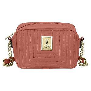Bolsa Vizzano Mini Bag Transversal Matelassê Blush Feminina