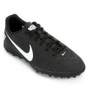 Chuteira Society Nike Beco 2 Preta com Branca Unissex