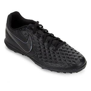 Chuteira Society Nike Tiempo Legend 8 Club Preta Unissex