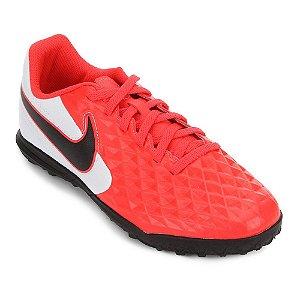 Chuteira Society Infantil Nike Tiempo Legend 8 Club Vermelha