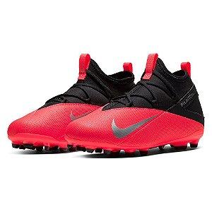 Chuteira Campo Infantil Nike Phantom Vision 2 Club Vermelho
