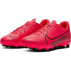 Chuteira Campo Infantil Nike Vapor 13 Mercurial Clu Vermelha