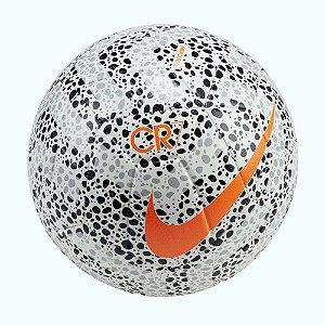 Bola de Futebol Campo Nike CR7 Strike Mercurial Preta/Branca