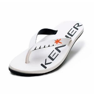 Chinelo Kenner Red Colors Branca com Preto Masculino