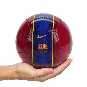 Mini Bola Futebol Nike Barcelona Skills Vermelho com Azul