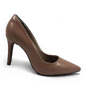 Sapato Scarpin Bebecê Salto Alto Bico Fino Verniz Feminino