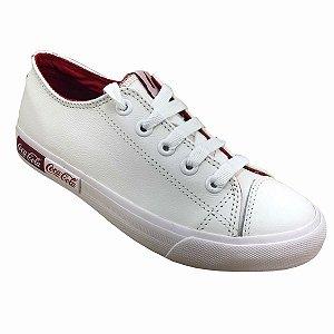 Tênis Coca-Cola Shoes Blend Leather Branco Gelo Feminino