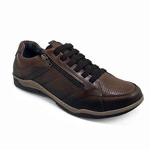 Sapatênis Pegada Plus Size 514274-01 Marrom Masculino