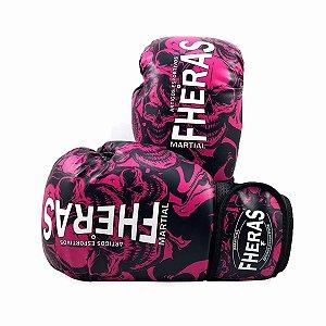 Luva de Boxe/Muay Thai Fheras Top Caveira Rosa