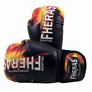 Luva de Boxe/Muay Thai Fheras Top Fogo