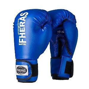 Luva de Boxe/Muay Thai Fheras Orion Tradicional Azul