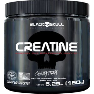 Creatine 150g Black Skull Caveira Preta