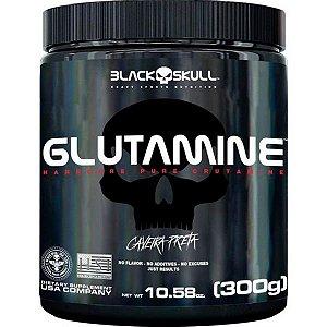 Glutamine 300g Black Skull Caveira Preta
