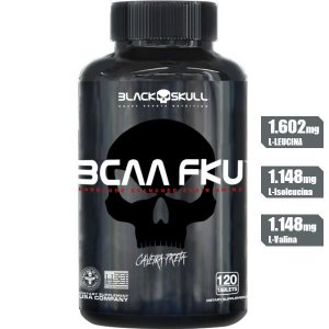 BCAA FKU 120 TABLETES BLACK SKULL CAVEIRA PRETA