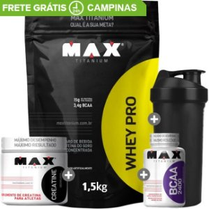 Combo Massa Muscular Max Titanium 1,5kg