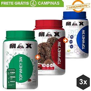 Combo TOP Whey Lançamento - Max Titanium