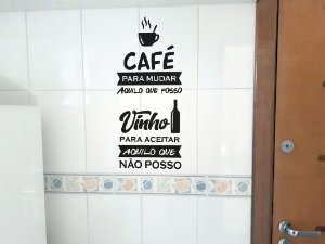 Adesivo de parede para cozinha azulejo xicará de café #2