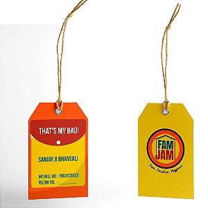 Tags personalizadas para roupas 500 Unidades.