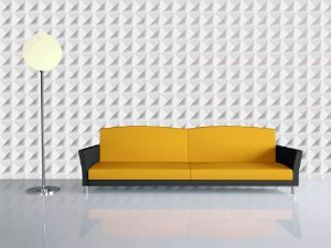 Papel de Parede 3d Geométrico Triangular Vinil Texturizado Metro Quadrado