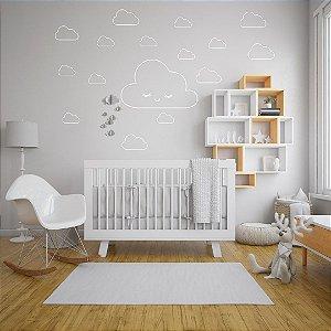 Adesivo De Parede Quarto Infantil Nuvens