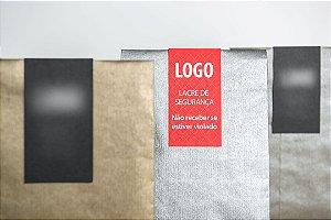 Adesivo lacre de segurança para sacola ou embalagem copo delivery 100 unidades