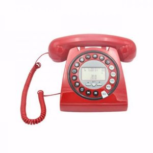 Telefone Digital Retrô Fashion Identificador Viva Voz Vermelho