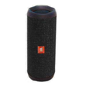 JBL Flip 4 - Caixa de Som Bluetooth a Prova d'água, Preta