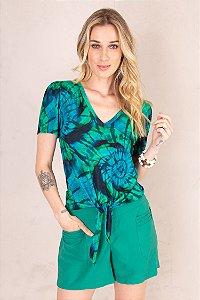 Blusa Laço Tie Dye Verde