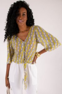 Blusa Color Geometric Yellow