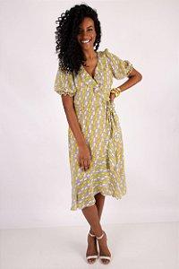 Vestido Color Geometric Yellow