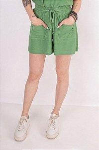 Short Moletom Rustic Verde