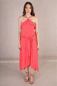 Vestido Midi Bella Flamingo