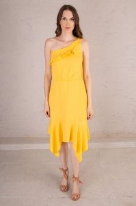Vestido Midi Alana Amarelo