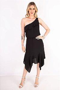 Vestido Midi Alana Preto