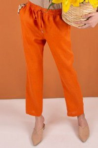 Calça 100% Linho Giselle Orange