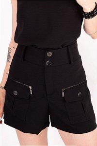 Shorts Camila Fluid Preto