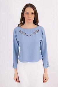 Blusa Marcelly Crepe - Azul Céu