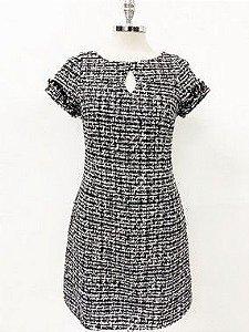 Vestido Tweed Color Preto
