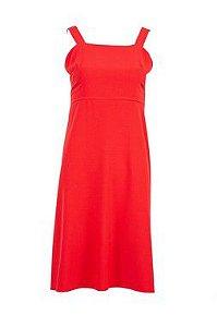 Vestido Carol Crepe Red