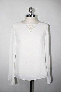 Blusa Lauren Crepe Off White