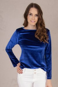 Blusa Samara Velvet Span Cobalto
