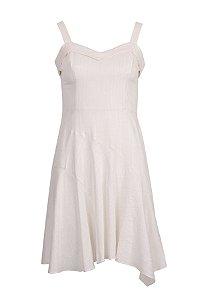 Vestido Midi Viscolinho Off White