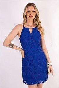 Vestido Renda Lilly Azul
