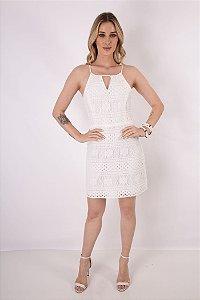 Vestido Renda Lilly Off White