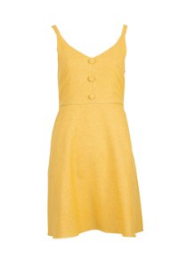 Vestido Linho Giovanna Amarelo