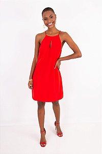 Vestido Luiza Fit Crepe Red